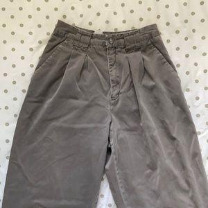 VINTAGE Grey Pleated High Waist Pants